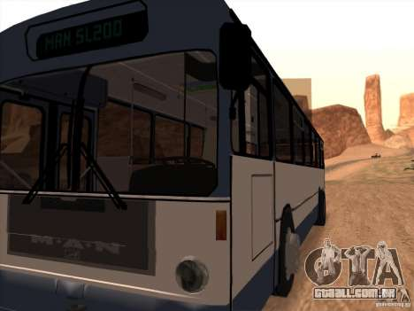 MAN SL200 Exclusive v.1.00 para GTA San Andreas vista interior