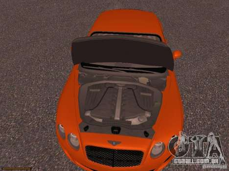 Bentley Continetal SS Dubai Gold Edition para GTA San Andreas vista interior