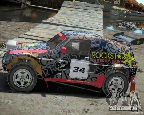 Mitsubishi Pajero Proto Dakar EK86 vinil 1 para GTA 4 esquerda vista