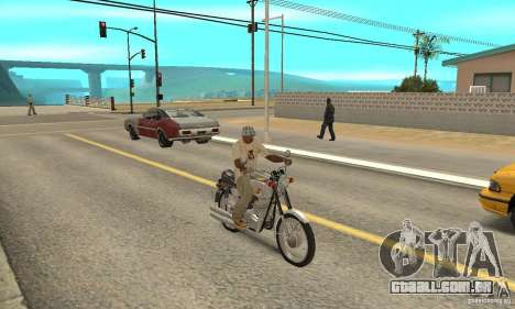 Jawa 350 para GTA San Andreas vista direita