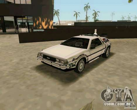 BTTF DeLorean DMC 12 para GTA Vice City vista direita