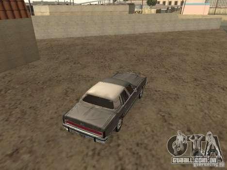 Lincoln Town Car 1986 para GTA San Andreas traseira esquerda vista