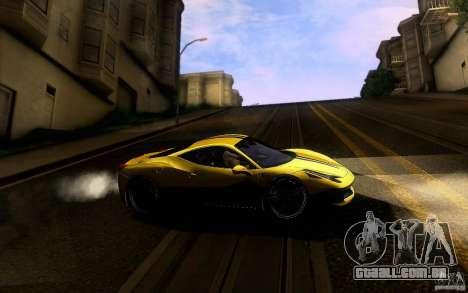 Ferrari 458 Italia Final para GTA San Andreas vista inferior