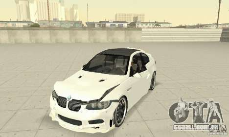 BMW M3 2008 Hamann v1.2 para GTA San Andreas vista superior