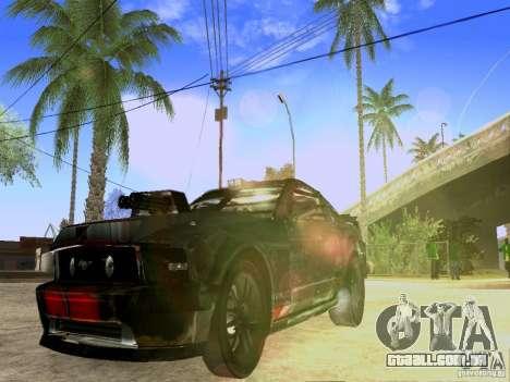 Ford Mustang Death Race para GTA San Andreas vista direita