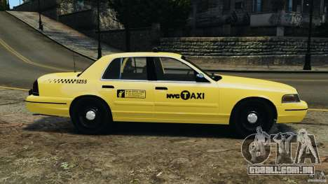 Ford Crown Victoria NYC Taxi 2004 para GTA 4 esquerda vista