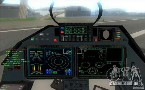 SU t-50 Pak FA para GTA San Andreas vista traseira