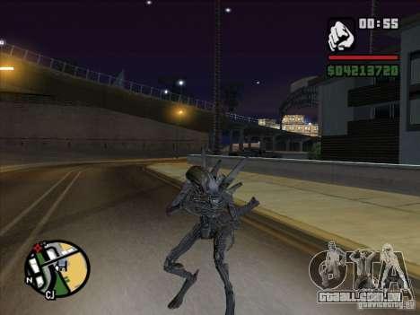 Alien Xenomorph para GTA San Andreas por diante tela