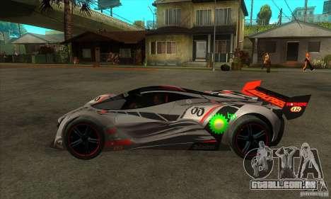 Mazda Furai V2 para GTA San Andreas traseira esquerda vista