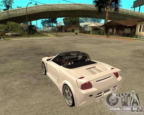 Toyota MRS2 Veilside para GTA San Andreas esquerda vista