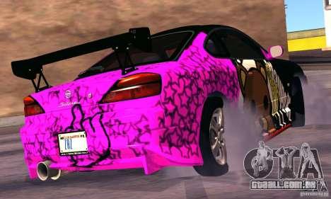 Nissan Silvia s15 tunable para GTA San Andreas vista traseira