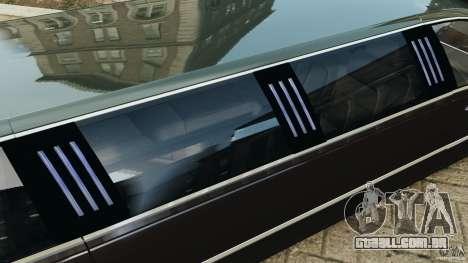 Lincoln Town Car Limousine 2006 para GTA 4 motor