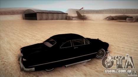 Ford Coupe Custom 1949 para GTA San Andreas vista traseira
