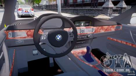BMW 350i Indonesian Police Car [ELS] para GTA 4 vista direita