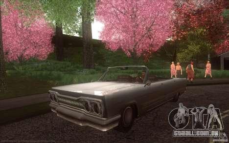 Savanna HD para GTA San Andreas traseira esquerda vista