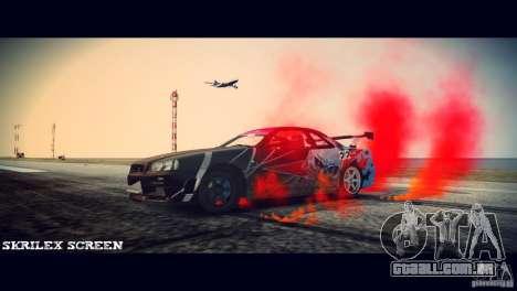 Red smoke under the wheels para GTA 4 segundo screenshot