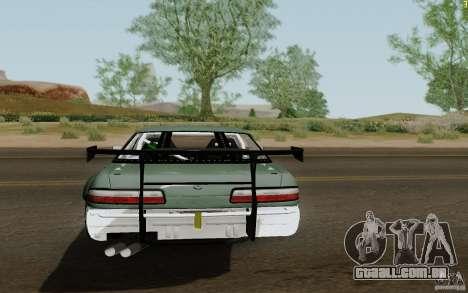 Nissan S13 Ben Sopra para GTA San Andreas traseira esquerda vista
