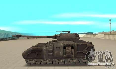 Rhino Tank-UT para GTA San Andreas esquerda vista