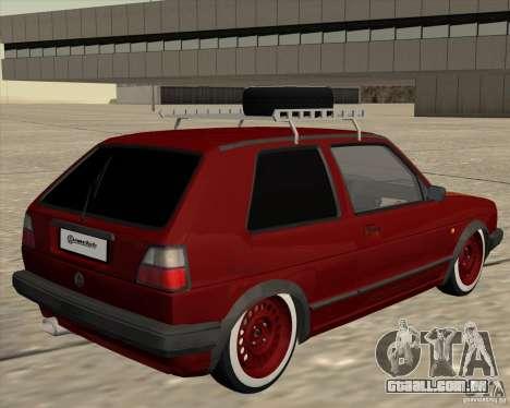 VW Golf II Shadow Crew para GTA San Andreas vista direita