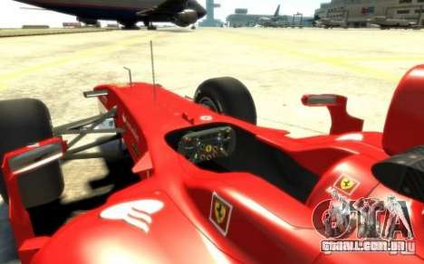 2010 Scuderia Ferrari F10 para GTA 4 vista direita
