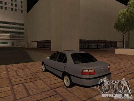 Opel Omega B 1998 v2 para GTA San Andreas traseira esquerda vista