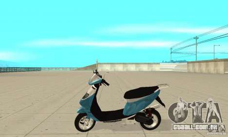 GTAIV Faggio para GTA San Andreas esquerda vista