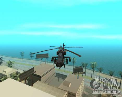 Ka-50 Black Shark para GTA San Andreas vista interior