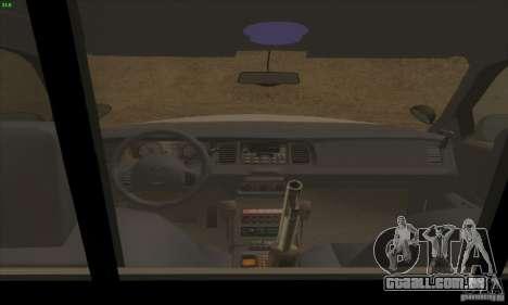 Ford Crown Victoria Arkansas Police para GTA San Andreas vista traseira