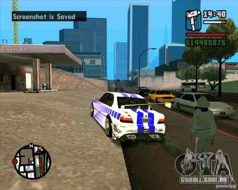BMW 730i X-Games tuning para GTA San Andreas esquerda vista