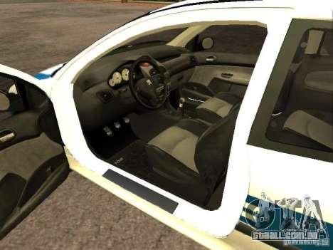 Peugeot 206 Police para GTA San Andreas traseira esquerda vista