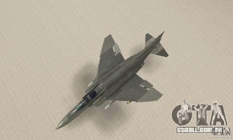 F-4E Phantom II para GTA San Andreas traseira esquerda vista
