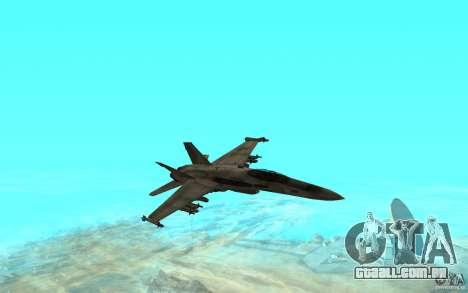 F-18 Hornet para GTA San Andreas