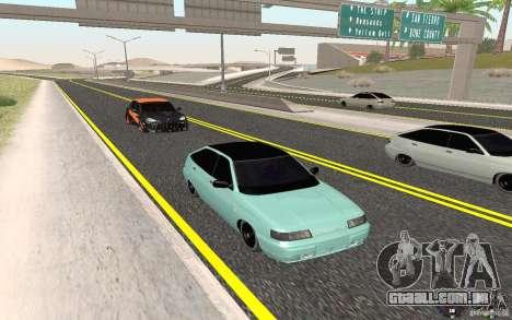 Ajuste de luz VAZ-2112 para GTA San Andreas
