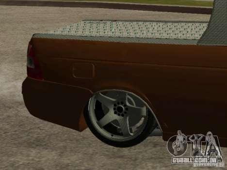LADA 2170 Pickup para GTA San Andreas vista inferior