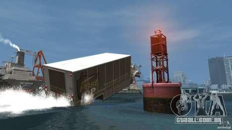 Benson boat para GTA 4 vista de volta