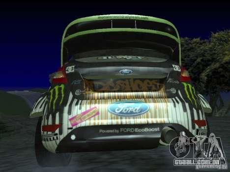 Ford Fiesta Ken Block WRC para GTA San Andreas traseira esquerda vista
