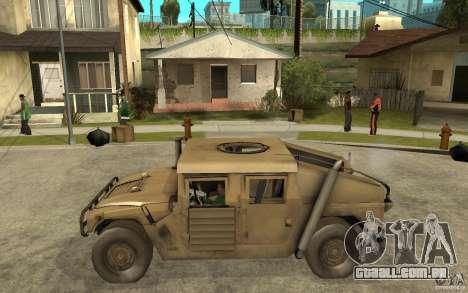 Hummer H1 War Edition para GTA San Andreas esquerda vista