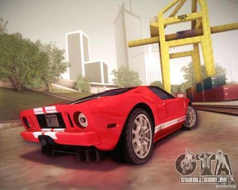 Ford GT para GTA San Andreas vista direita