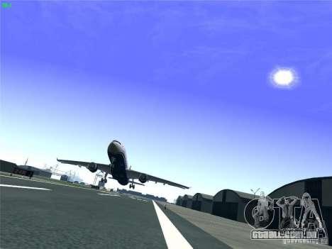 Airbus A330-300 US Airways para GTA San Andreas vista superior