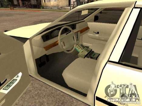 Ford Crown Victoria 1994 Police para GTA San Andreas traseira esquerda vista
