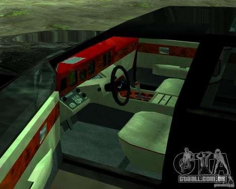 Aston Martin Lagonda para GTA San Andreas vista inferior