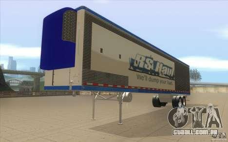 Reboque para caminhão Optimus Prime para GTA San Andreas vista direita