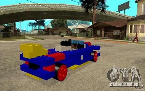 Móveis de LEGO para GTA San Andreas vista direita