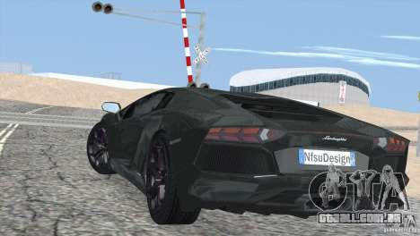 Lamborghini Aventador LP700-4 2012 para GTA San Andreas esquerda vista