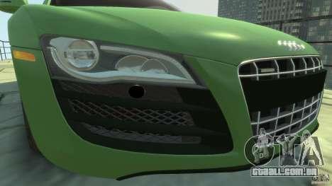 Audi R8 5.2 FSI quattro v1 para GTA 4 vista interior
