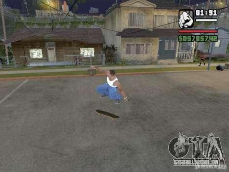 Skate para GTA SA para GTA San Andreas por diante tela