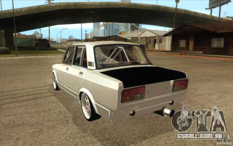 Drift Vaz Lada 2107 para GTA San Andreas traseira esquerda vista