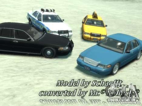 Ford Crown Victoria Taxi para GTA 4 esquerda vista