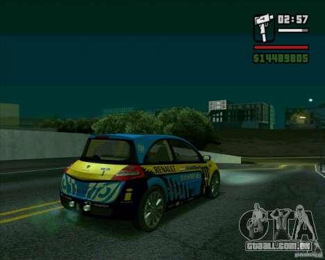 Renault Megane II RS para GTA San Andreas traseira esquerda vista