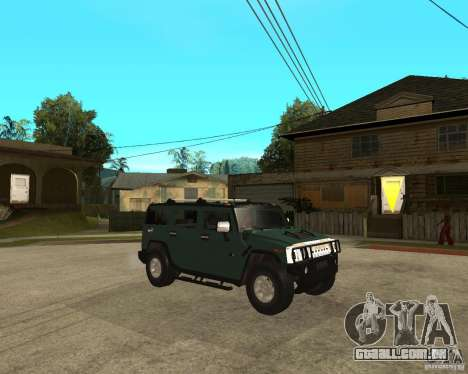 AMG H2 HUMMER SUV para GTA San Andreas vista direita